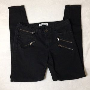 Zara Basic Z1975 Black Denim Zipper Jeans Size 6